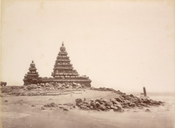 Temple containing recumbent figure of Vishnu, the Seven Pagodas near Madras